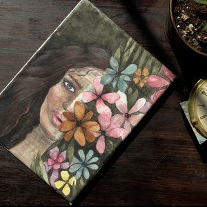 BOTANICAL BABE ✺ watercolor painting (6x8 canvas)